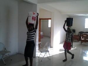 Transporting water